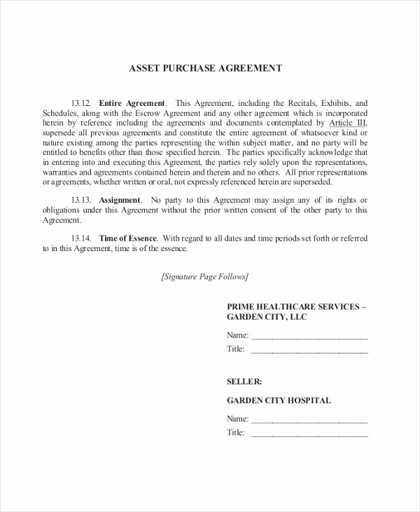 9 Sample Purchase Agreement forms Sample Example format