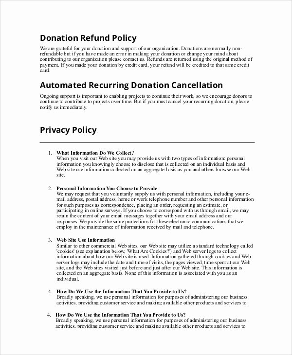 9 Sample Refund Policy Templates