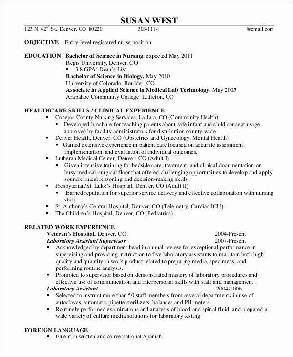 9 Sample Registered Nurse Resumes