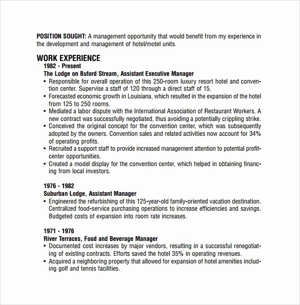 9 Sample Restaurant Resume Templates to Download