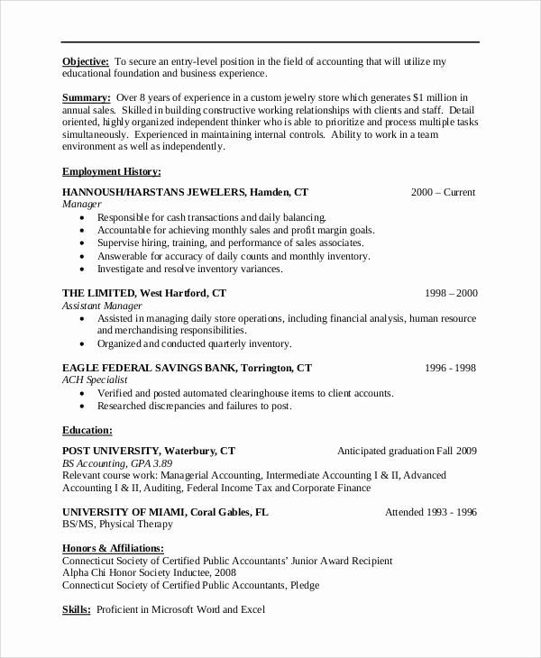 9 Sample Resume Objective Statement – Pdf Doc