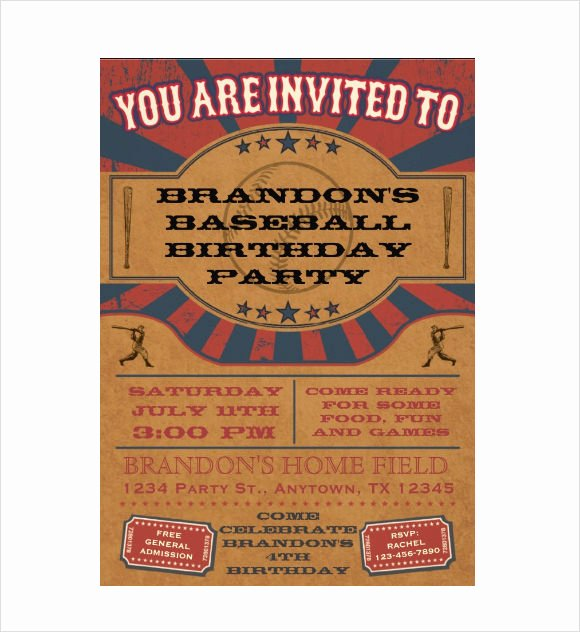 9 Sample Ticket Invitations