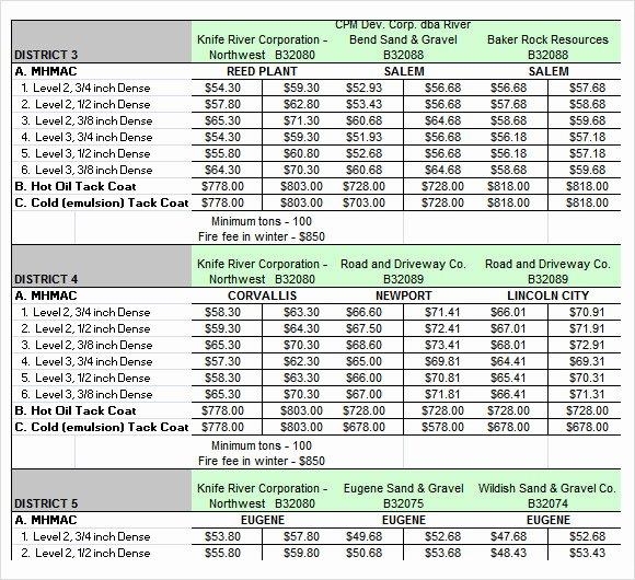 9 Sample Usefull Price Sheet Templates to Download