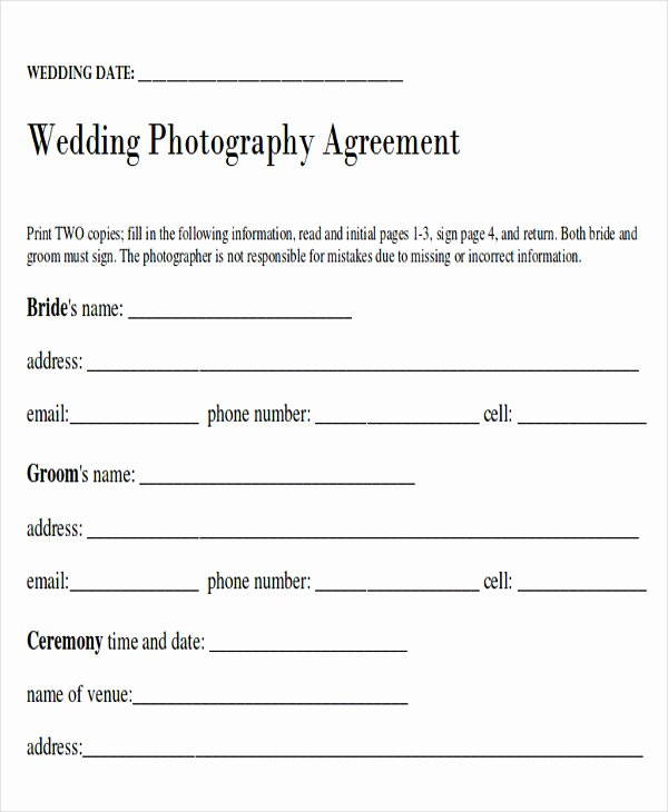 9 Sample Wedding Contract Agreements