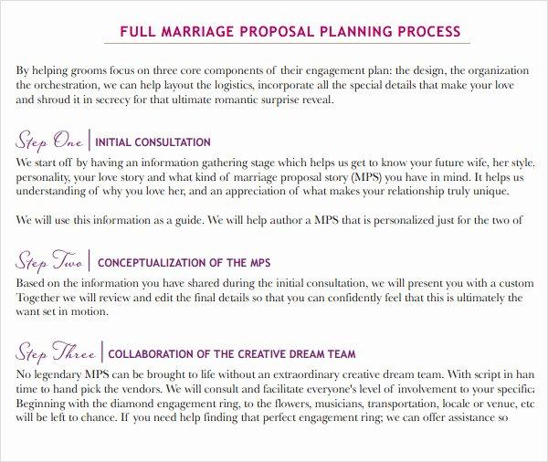 9 Sample Wedding Proposal Templates to Download