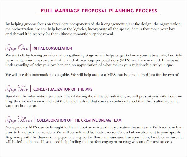 9 Sample Wedding Proposal Templates to Download
