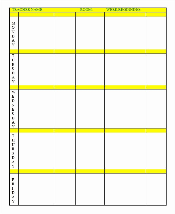 9 Sample Weekly Lesson Plans