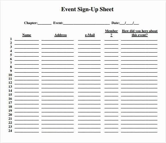 9 Sign Up Sheet Templates Word Excel Pdf formats