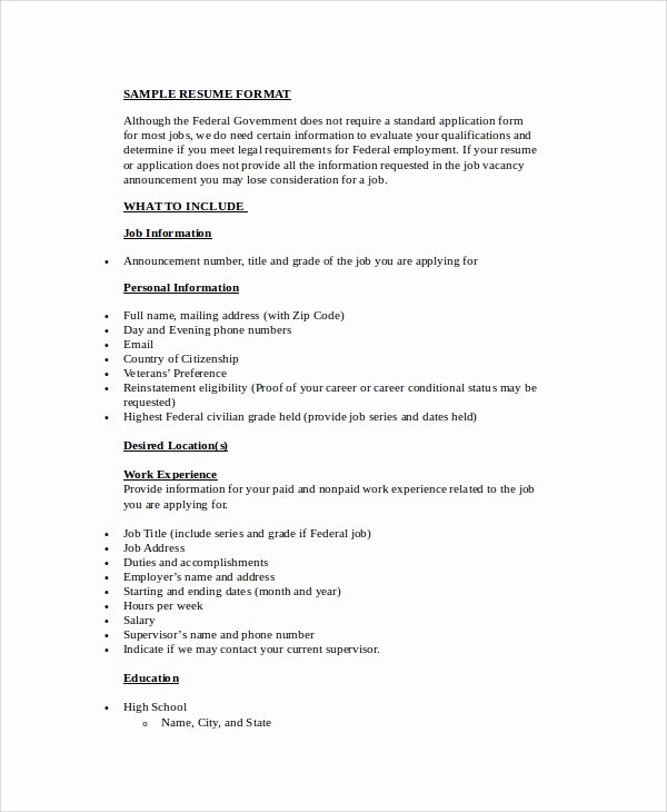 9 Simple Resume formats