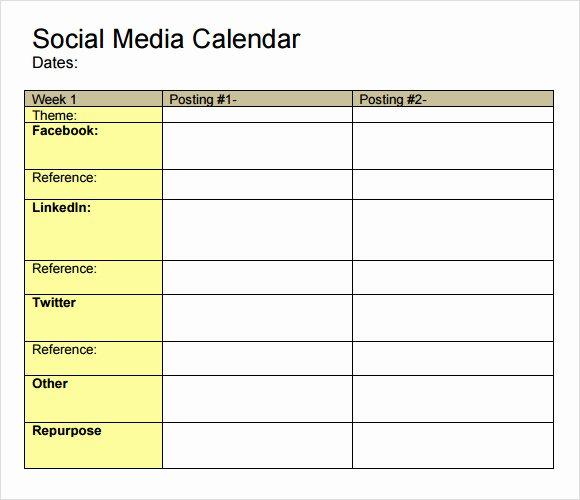 9 social Media Calendar Templates – Samples Examples