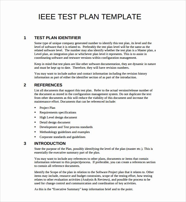 9 software Test Plan Templates