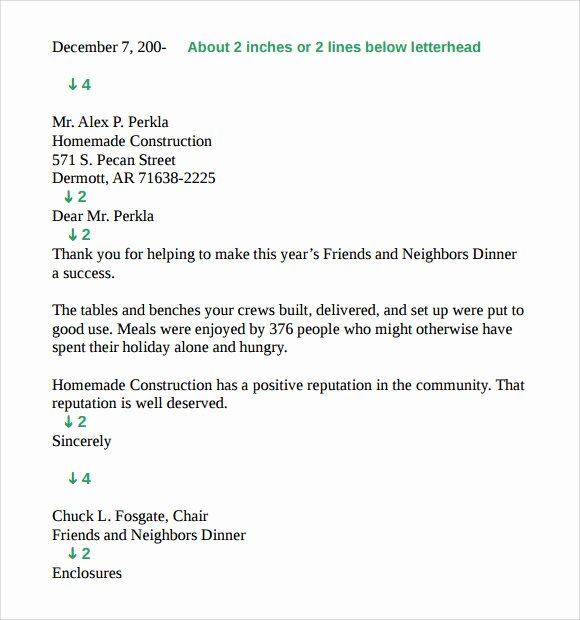 9 Standard Business Letter format Templates to Download