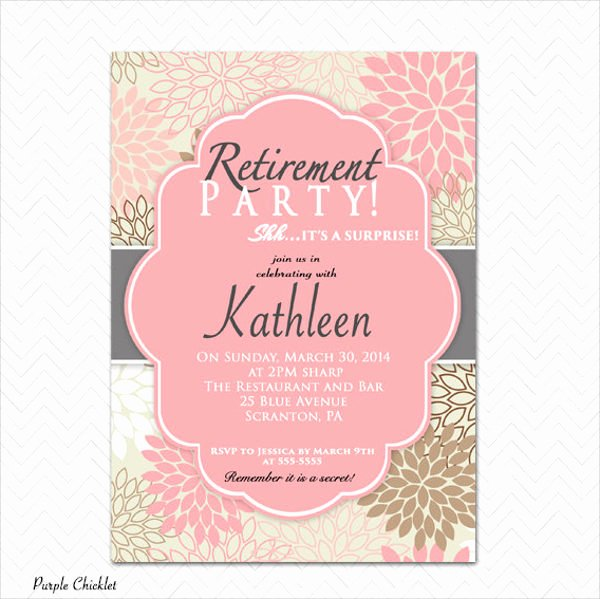 9 Surprise Party Invitation Free Sample Example