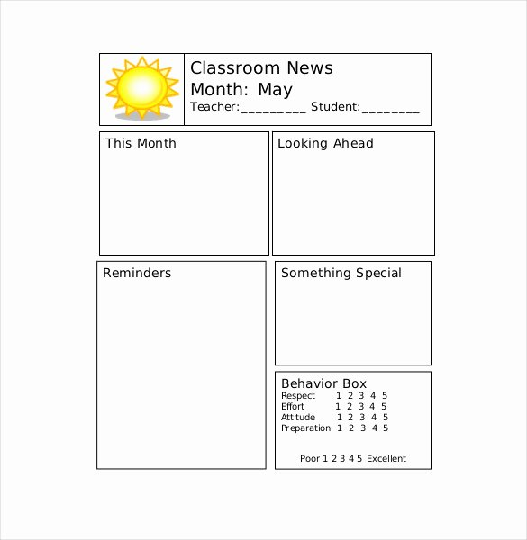 9 Teacher Newsletter Templates – Free Sample Example