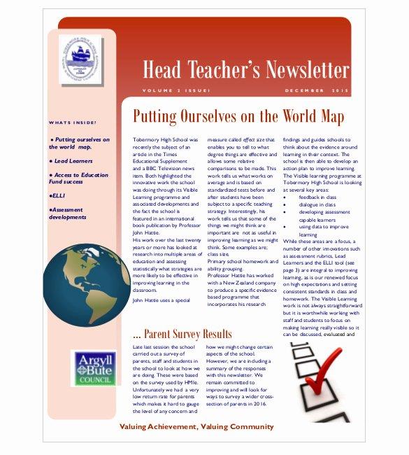 9 Teacher Newsletter Templates – Free Sample Example