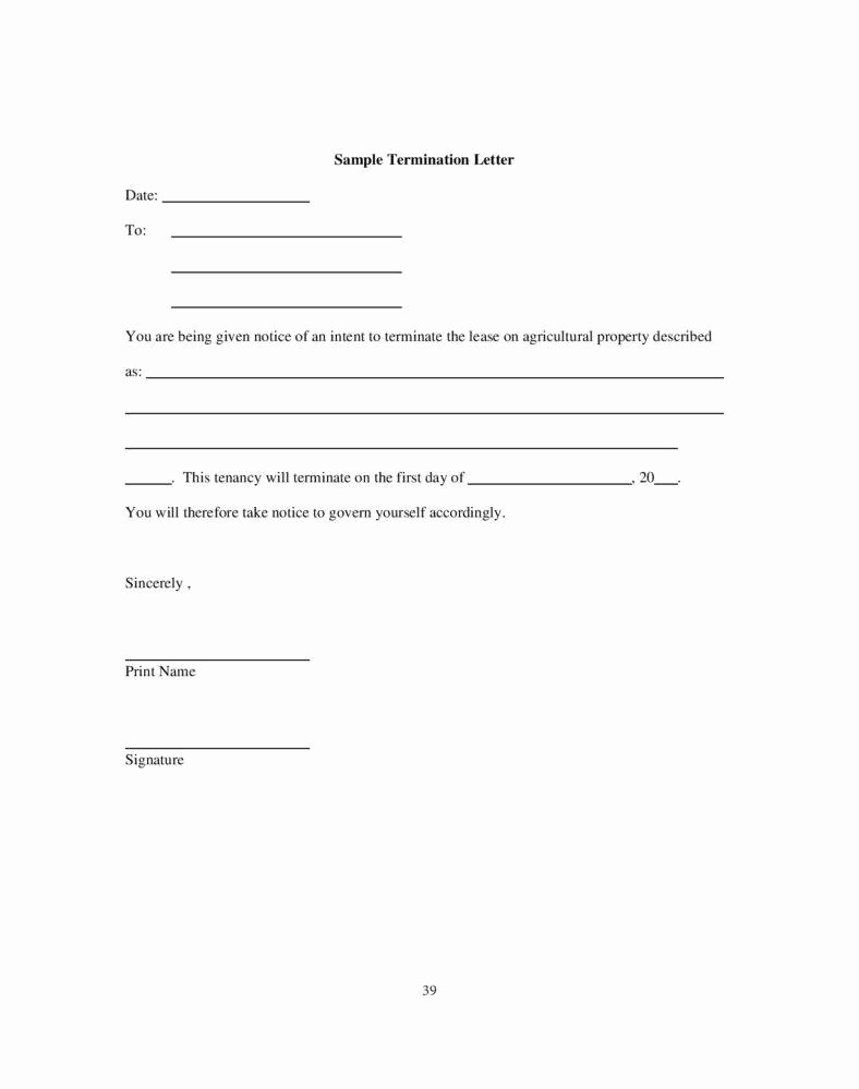9 Tenancy Termination Letters Free Samples Examples