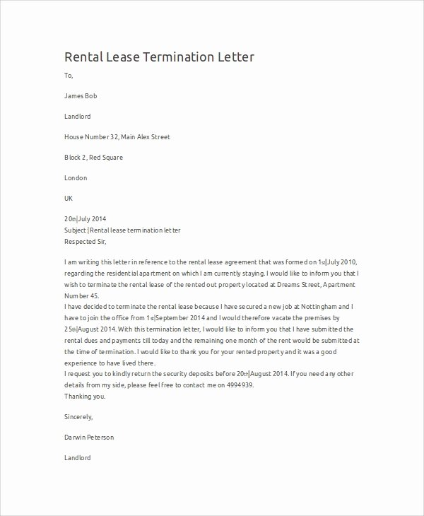 9 Termination Letter Samples
