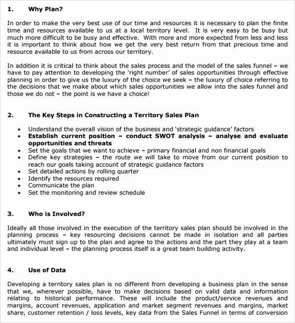 9 Territory Plan Templates