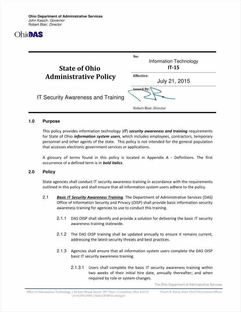 9 Training Policy Templates and Examples Pdf