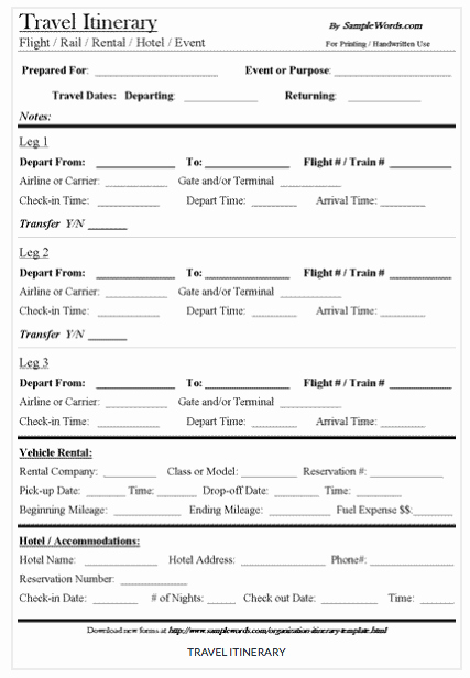 9 Useful Travel Itinerary Templates that are Free
