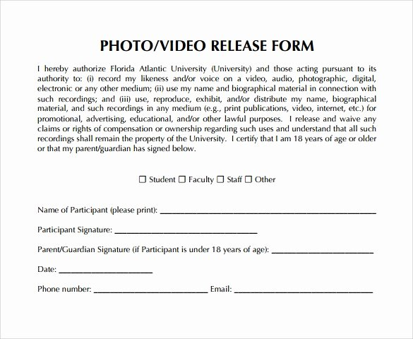 9 Video Release forms – Samples Examples & format