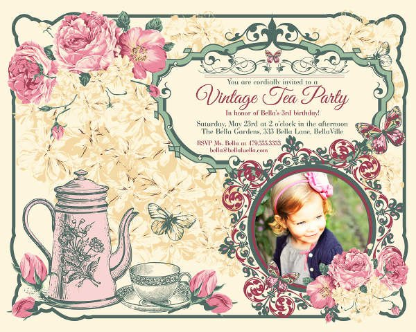 9 Vintage Invitation Templates Psd Eps Ai