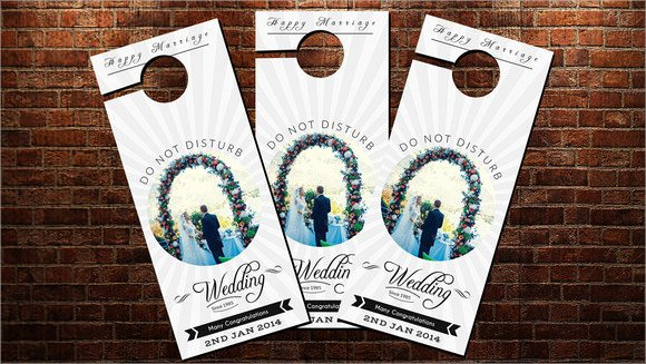 9 Wedding Door Hanger Templates for Free Download