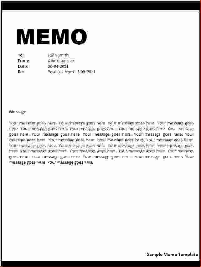 9 What is Memo