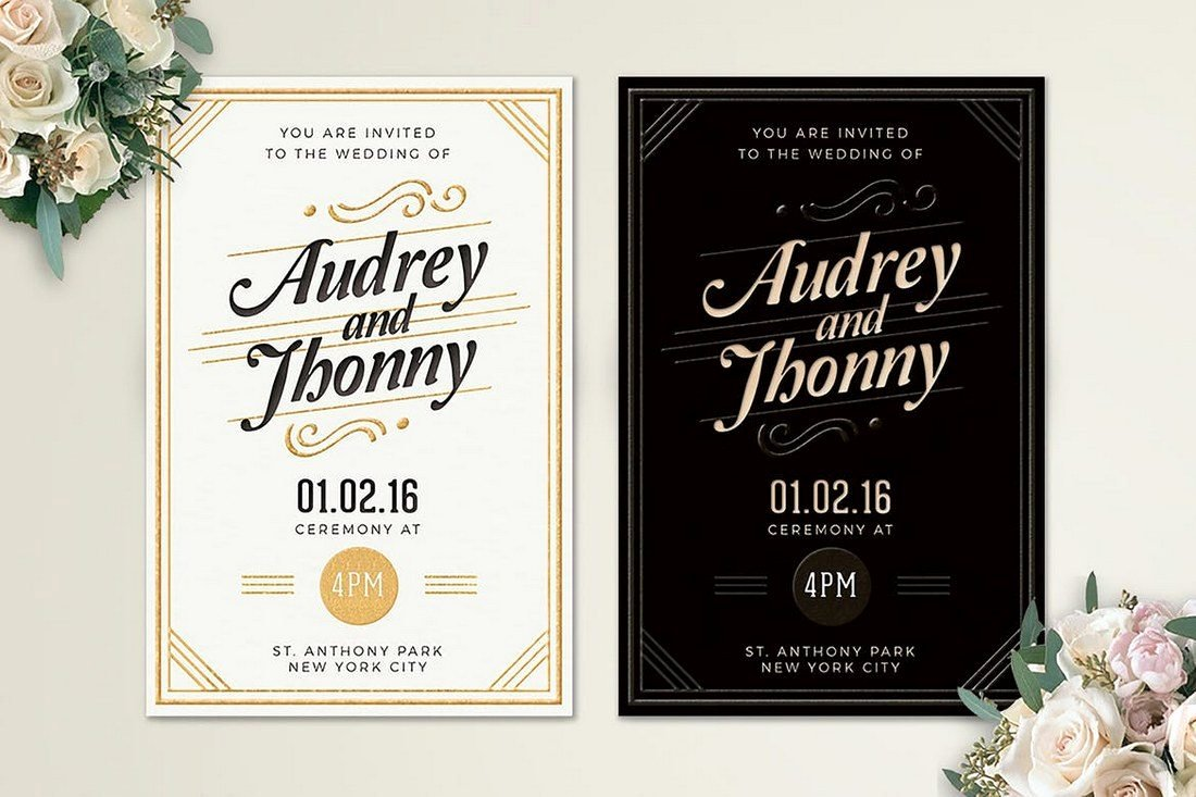 90 Gorgeous Wedding Invitation Templates
