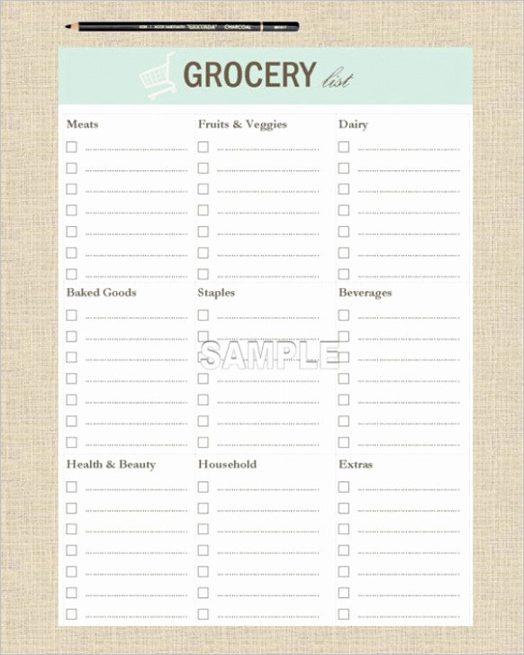 91 Customizable Grocery List Template Lft30