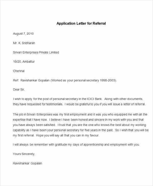 94 Best Free Application Letter Templates & Samples Pdf