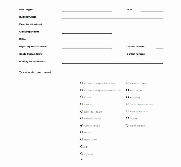 95 Apartment Maintenance Request form Template Sample
