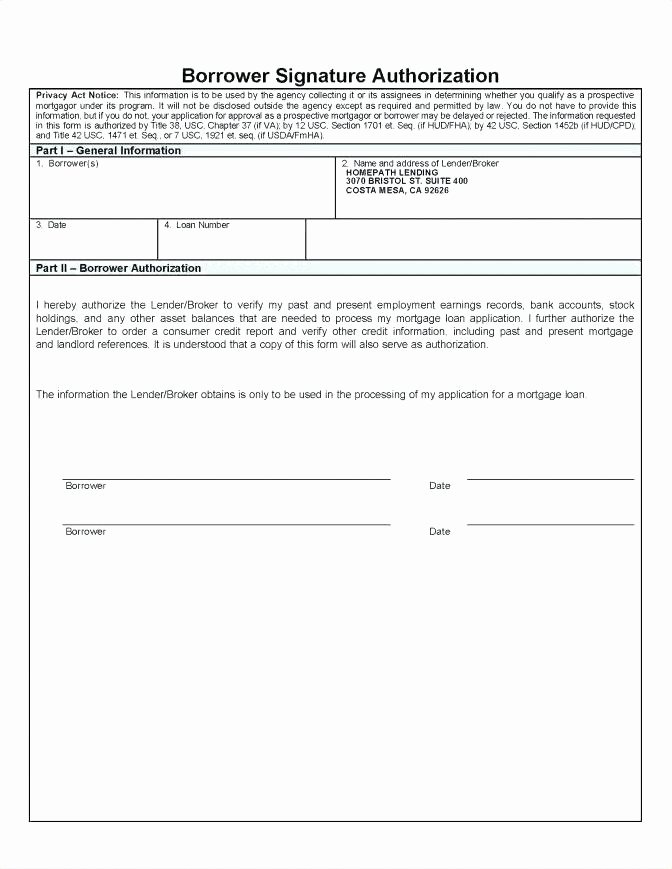 96 Credit Report Authorization form Template Credit