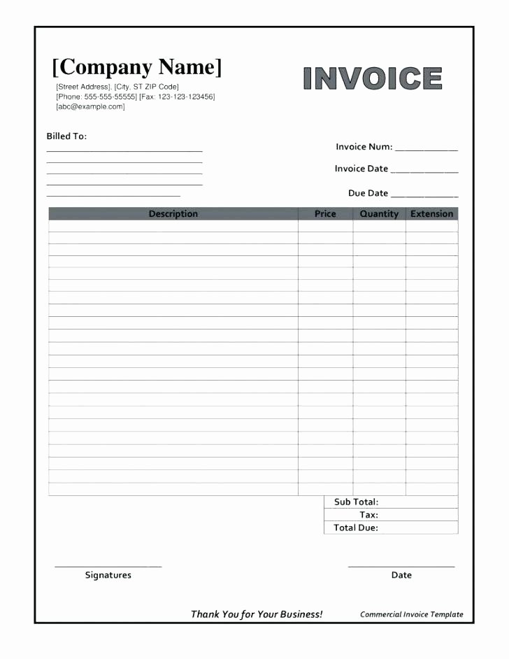 96 Work order Invoice Template Free Work order Sample