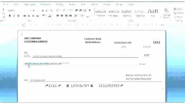 98 Blank Check Templates for Excel Check Printing