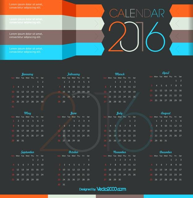 A Day Calendars Layered Template Adobe Shop
