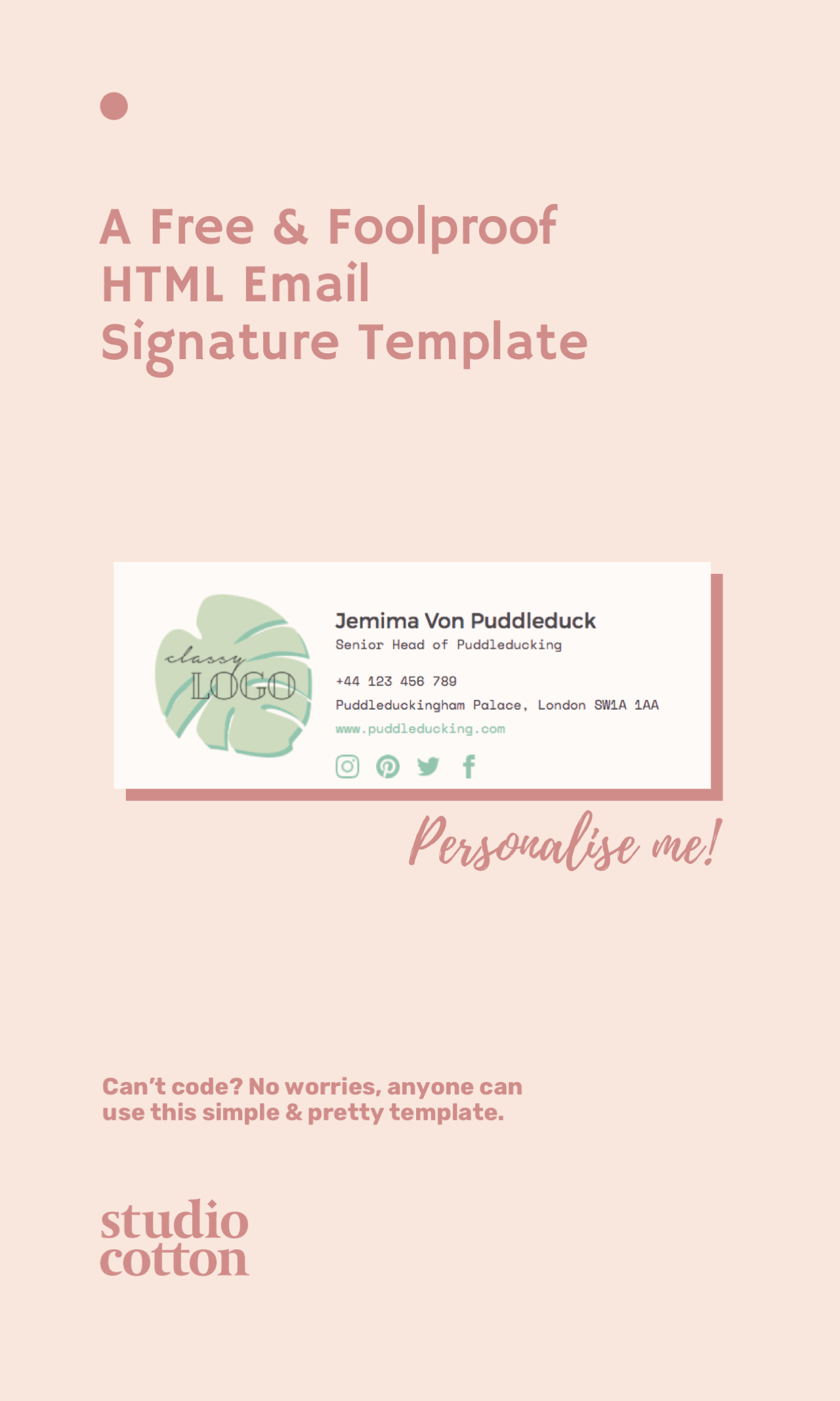 A Free & Foolproof HTML Email Signature Template • Brand