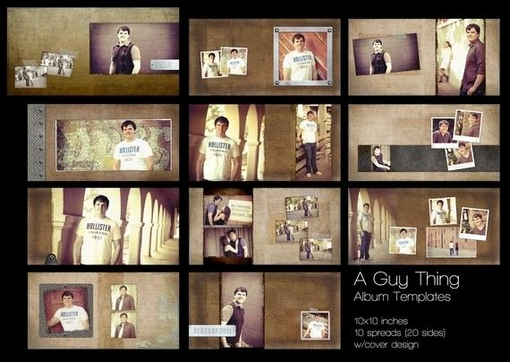 A Guy Thing Album Templates for Graphers 10 X 10