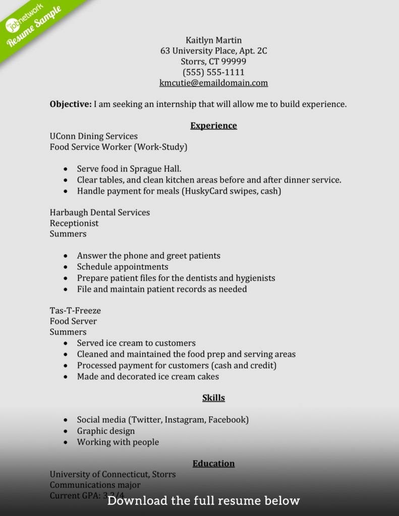 A Perfect Resume Example