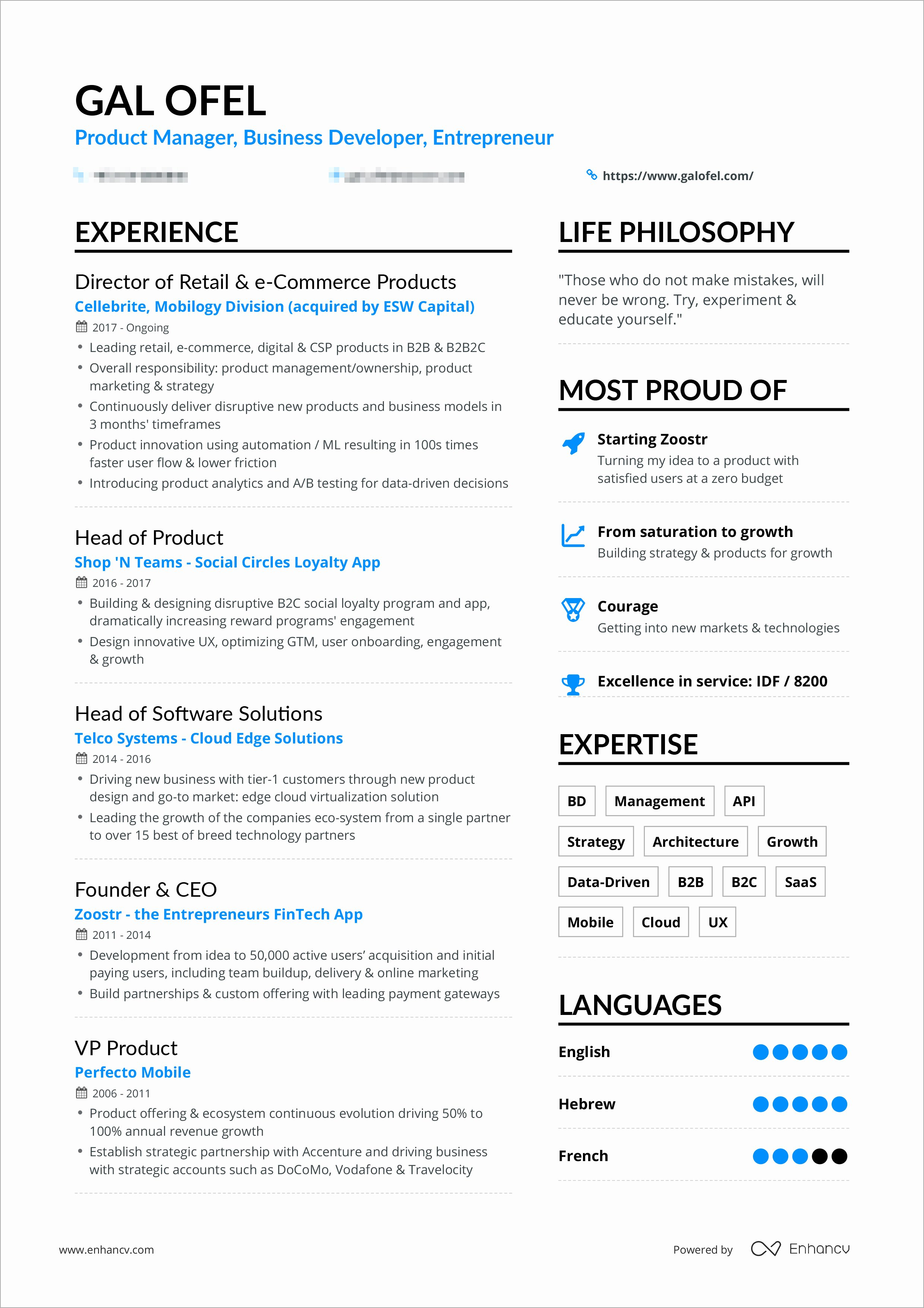 A Powerful One Page Resume Example You Can Use