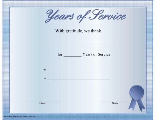 A Printable Certificate Thanking the Recipient for Any