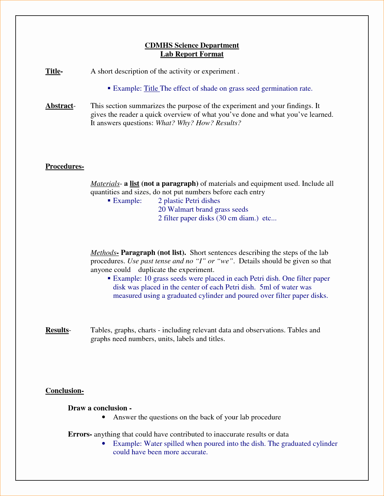 A Science Lab Report Business Proposal Templated