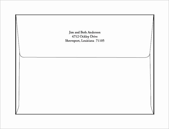 A2 Envelope Template