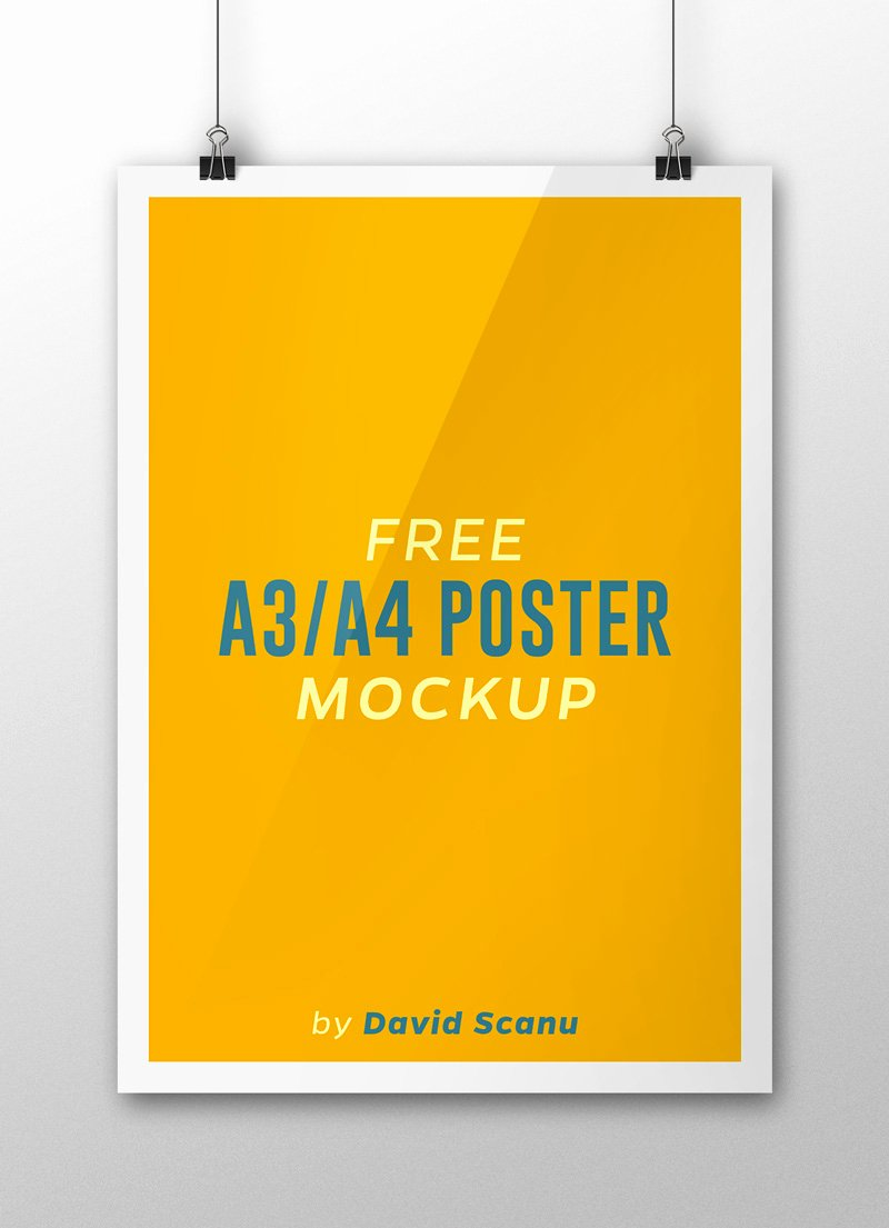 A3 A4 Flyer Poster Mock Up Psd Template
