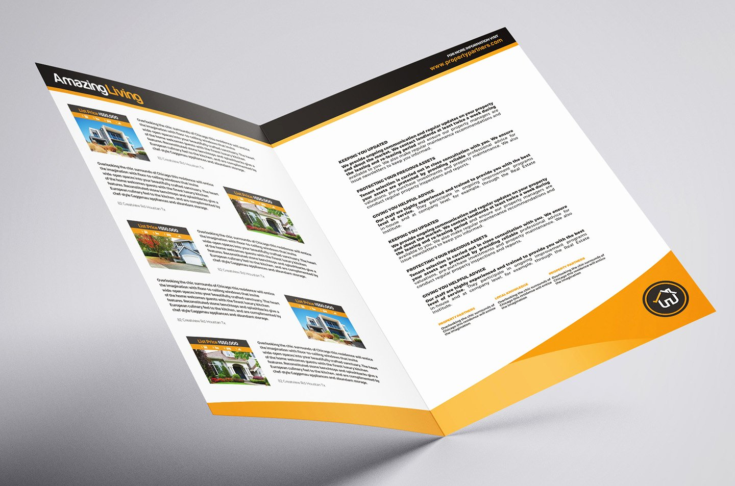 A3 Real Estate Brochure Template In Psd Ai & Vector