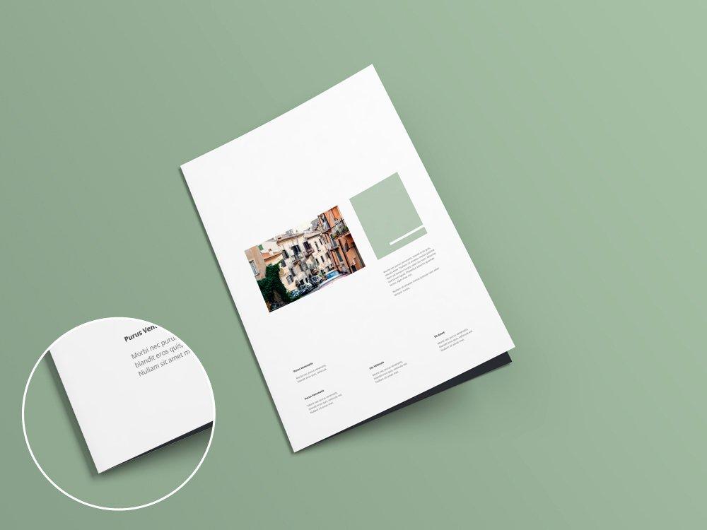 A4 Bi Fold Brochure Mock Up V1 0