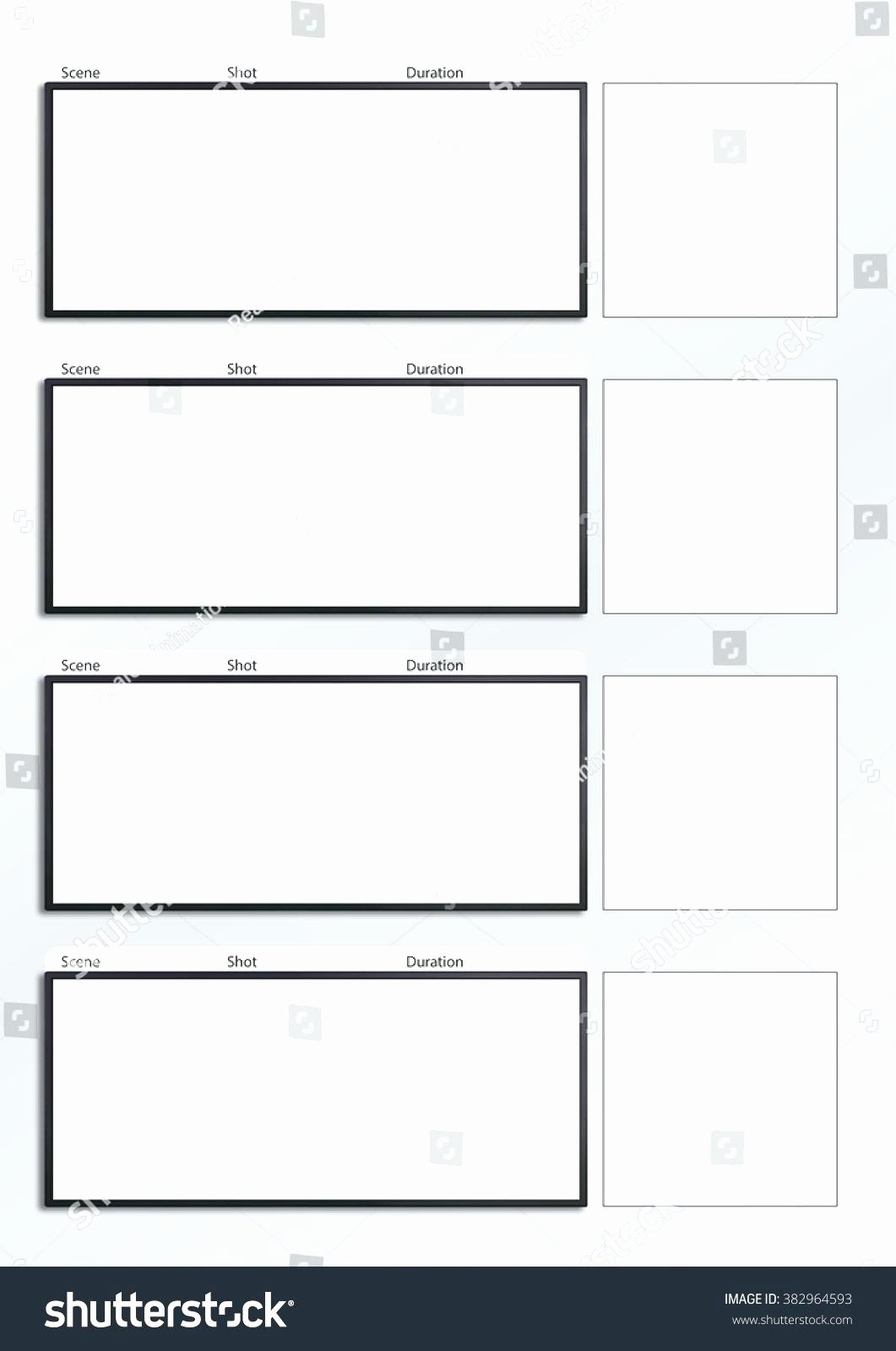 A4 Storyboard Template