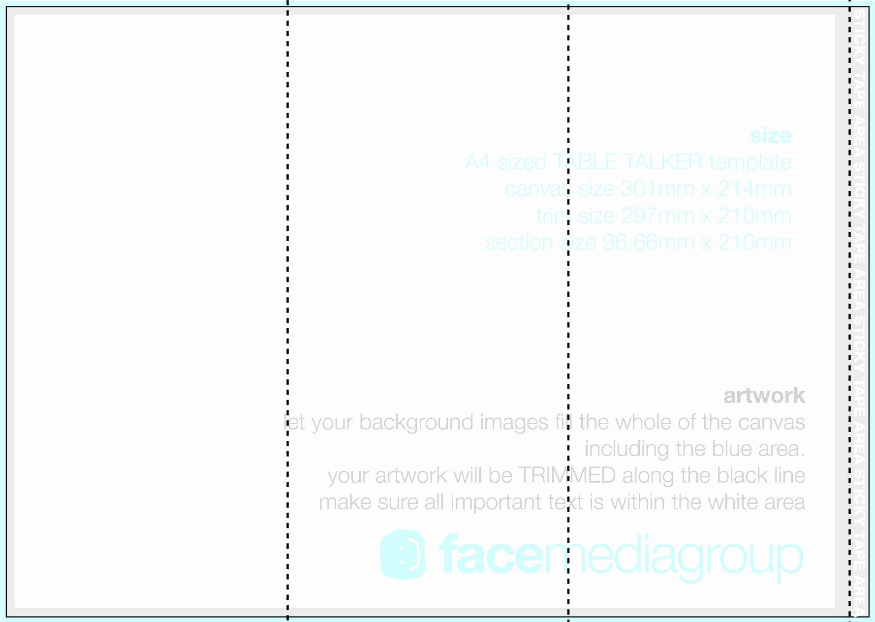 A4 Tri Fold Brochure Template Word Templates Resume