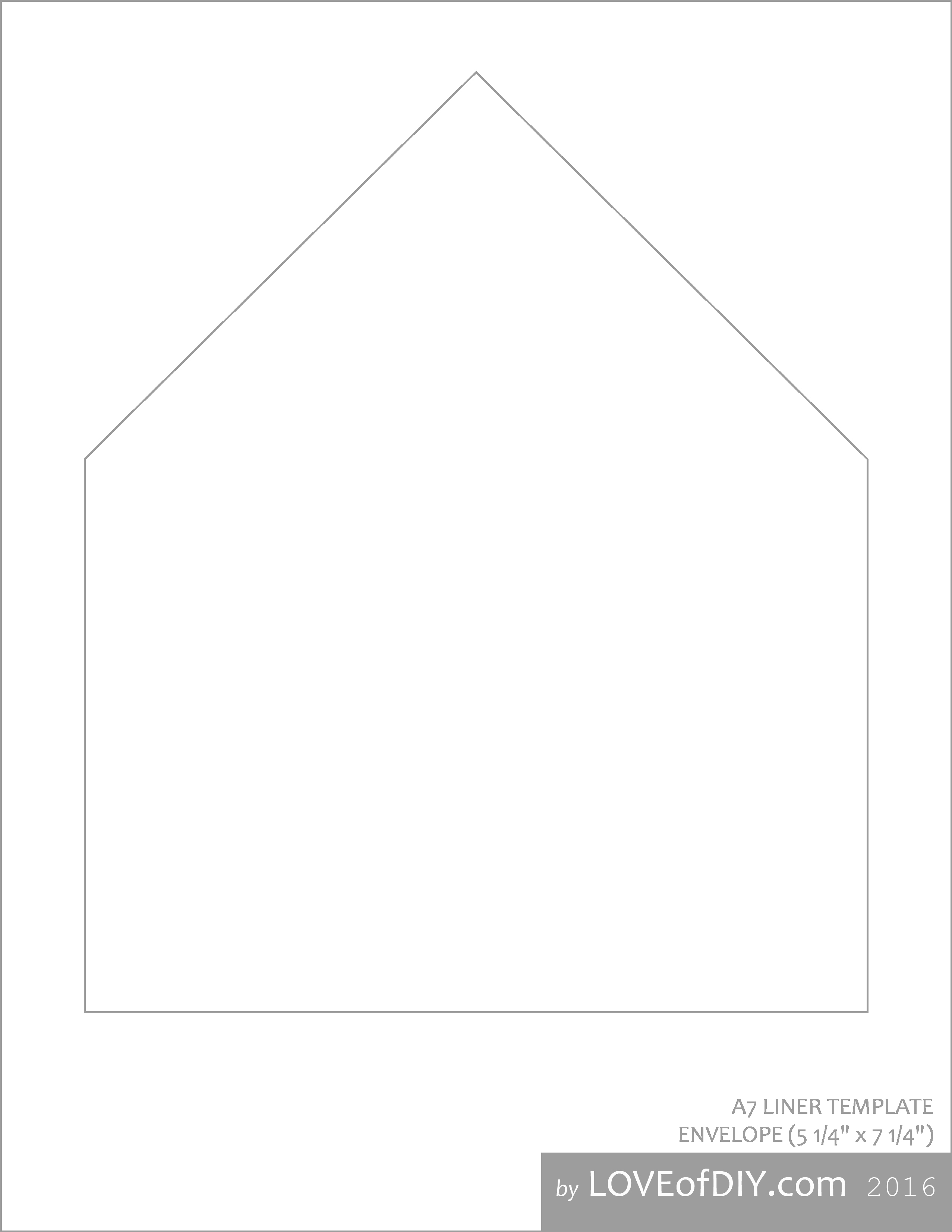 A7 Envelope Liner Template Gallery Template Design Ideas