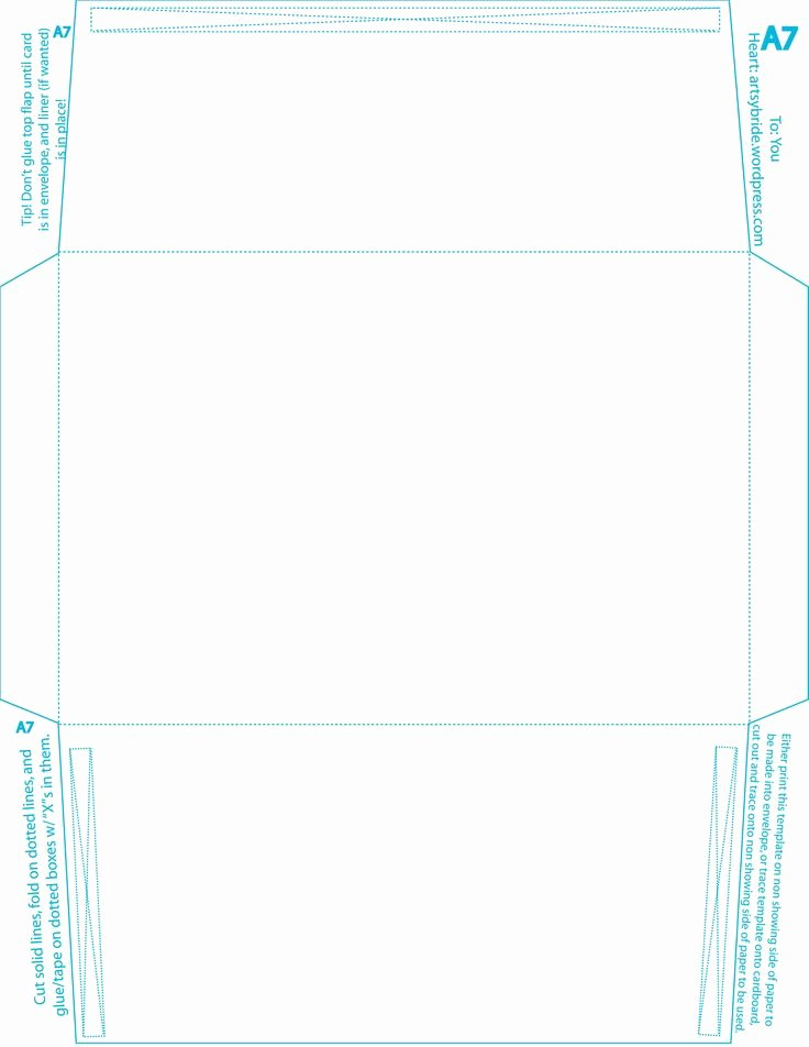 A7 Envelope Template
